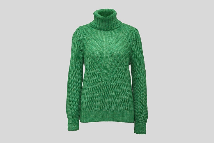 jersey verde de cuello alto C&A Lucía Bárcena