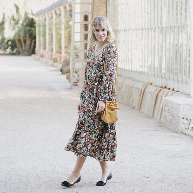 macarena gea vestido de invierno estampado de flores