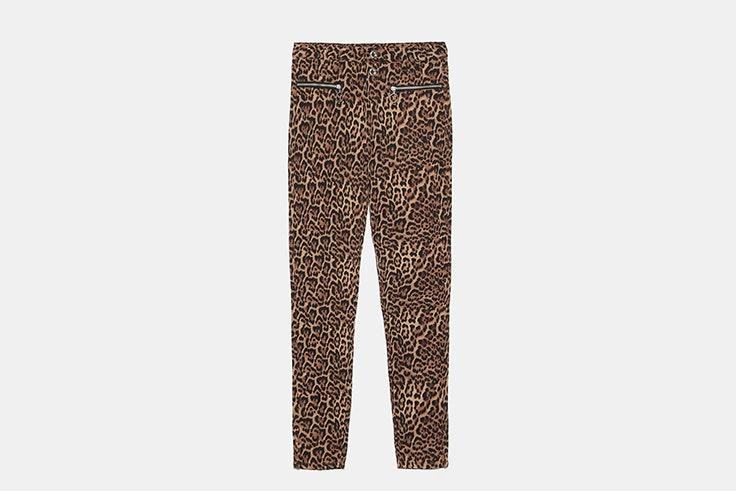 pantalon animal print zara Inma Soria