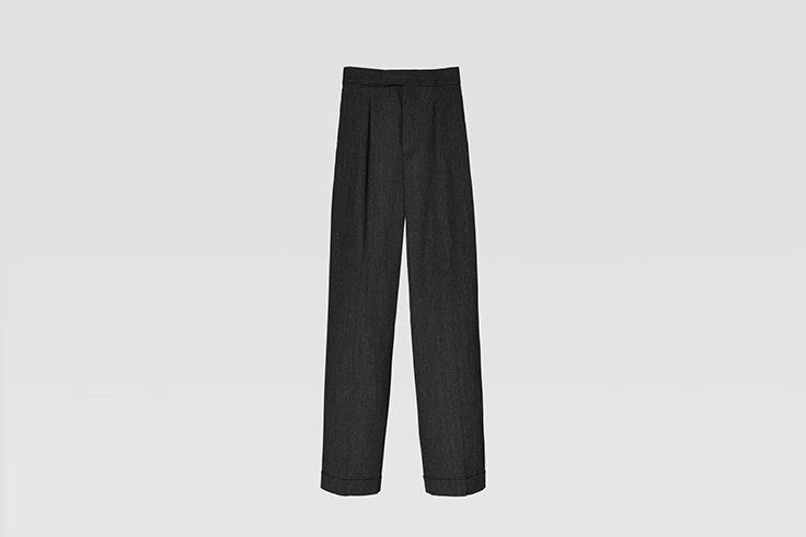 pantalon recto gris de lana de Zara Iria de @myblueberrynights