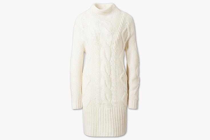 vestido de invierno de punto blanco corto c and a