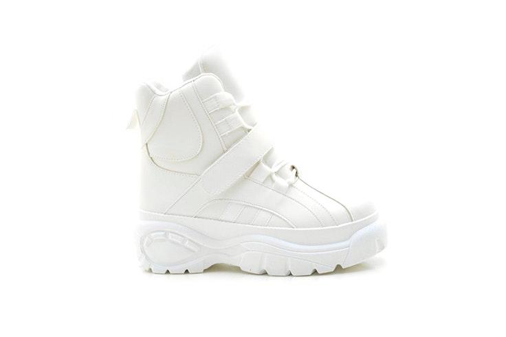 zapatillas blancas altas tino González