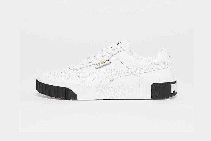 zapatillas blancas y negras puma snipes