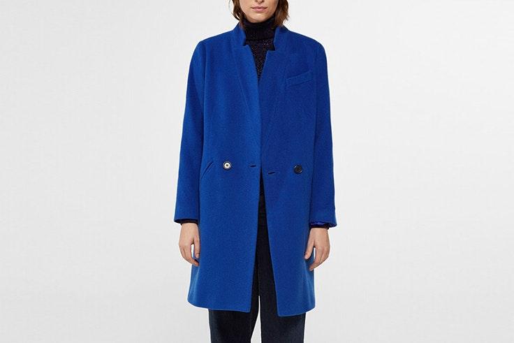 abrigo azul tejido italiano cortefiel Mary Lawless Lee