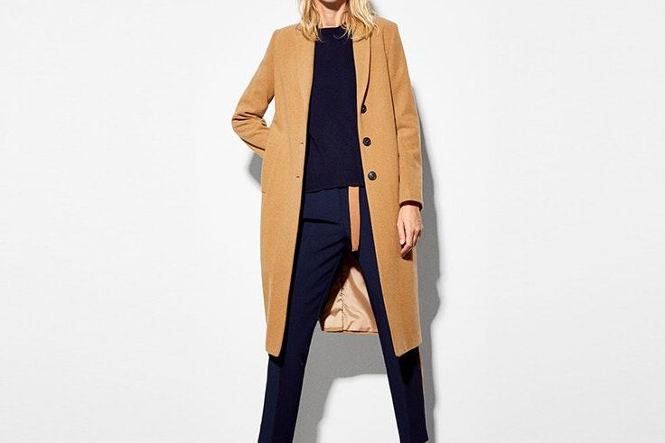 abrigo beige de tejido italiano cortefiel abrigos de invierno
