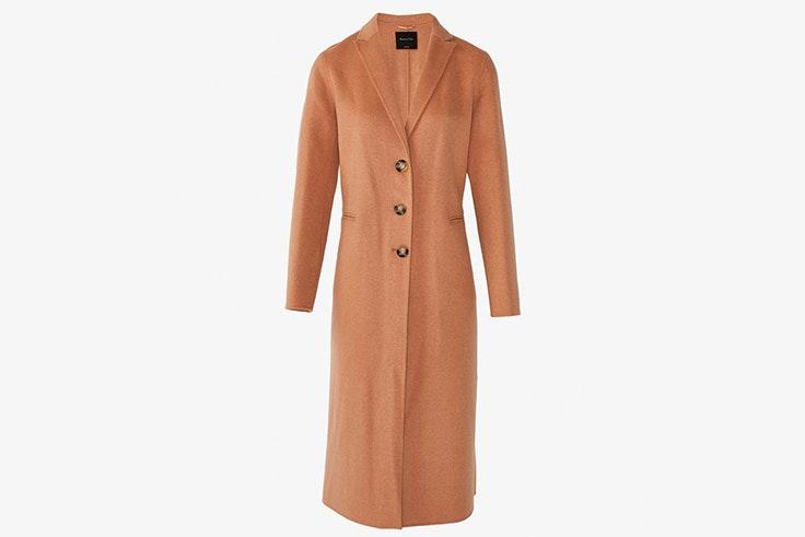 abrigo color camel massimo dutti