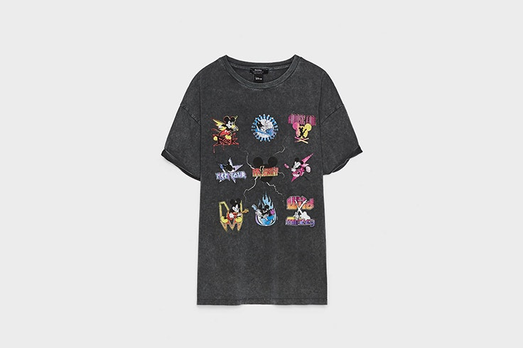 camiseta gráfica mickey mouse bershka Mary Lawless Lee