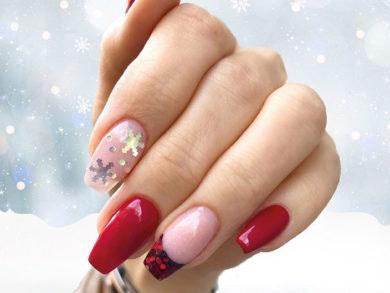 manicura-navideña