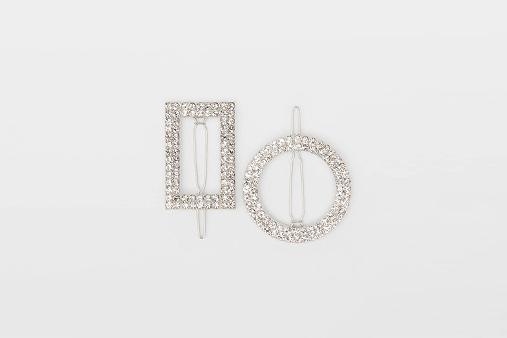 set de clips de strass de bershka accesorios de fiesta
