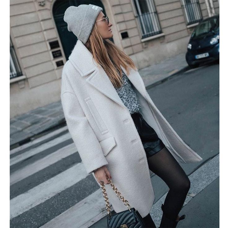 bartabac abrigo blanco estilo instagram