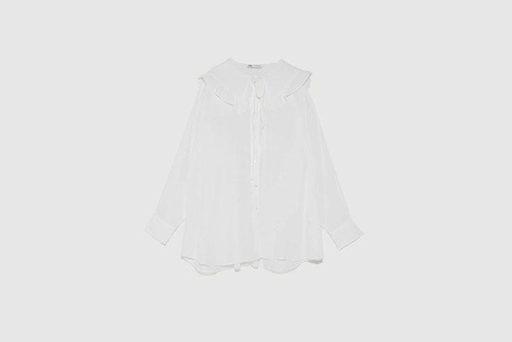 blusa cuello bobo blanco roto de zara Pernille Teisbaek