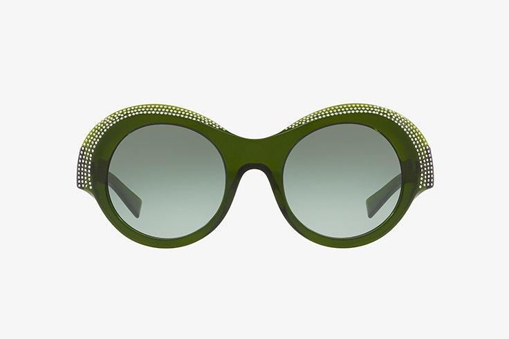 Gafas de sol redondas verdes con diamantes alain mikli sunglass hut