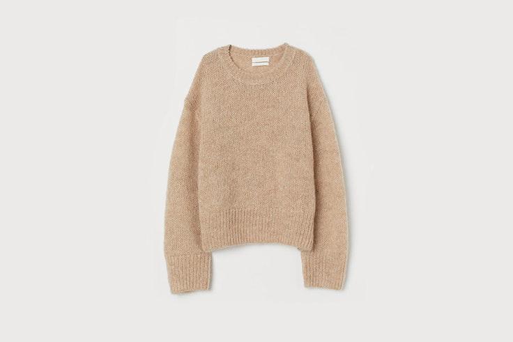 jersey en mezcla de lana color beige jaspeado de hym Sara Escudero