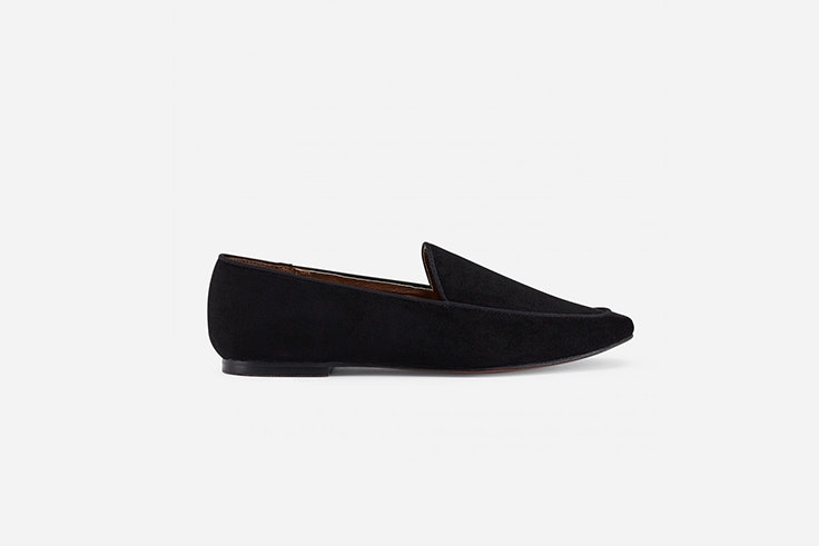 mocasin de ante negro de marypaz total black