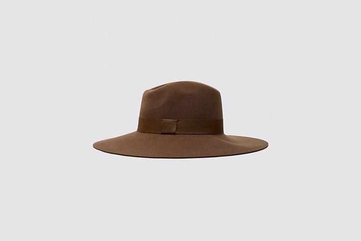 sombrero de lana y ala ancha de zara accesorios para el frío