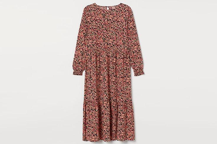 Vestido con estampado de flores en colores rosas de H&M