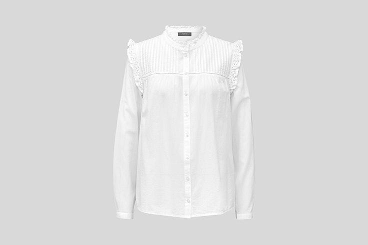 blusa romantica con ribetes y calados de cya blusas románticas