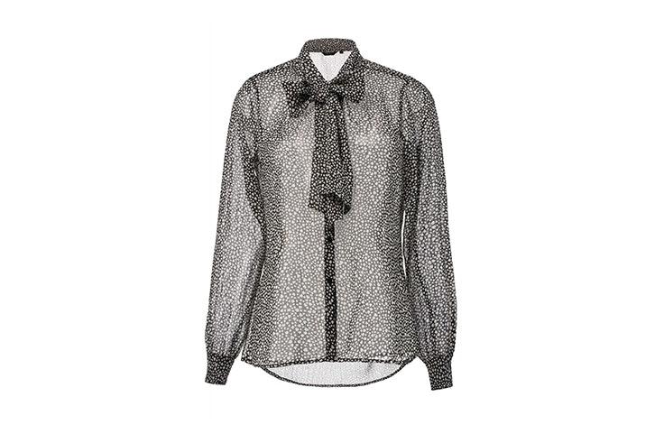 camisa transparente con dibujo de corazon de salsa blusas románticas