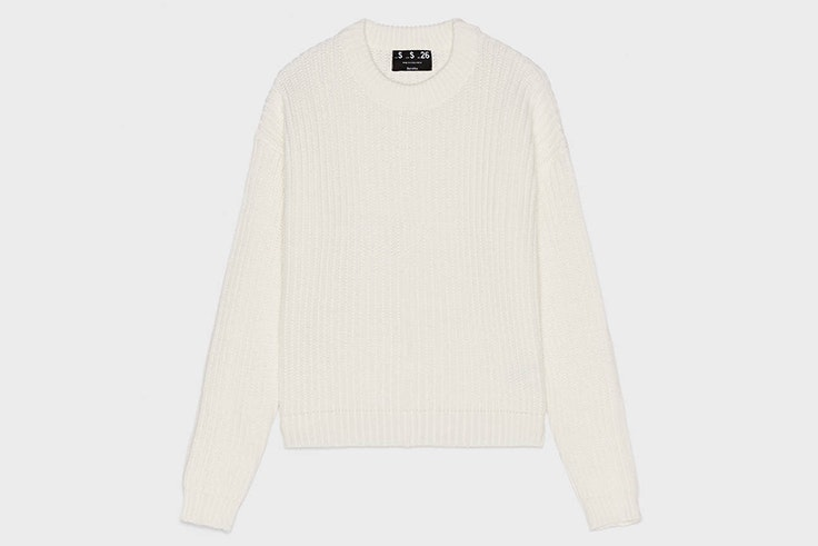 Jersey en color blanco de Bershka