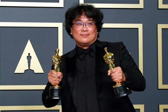 Bong Joon-ho en los Premios Óscar 2020