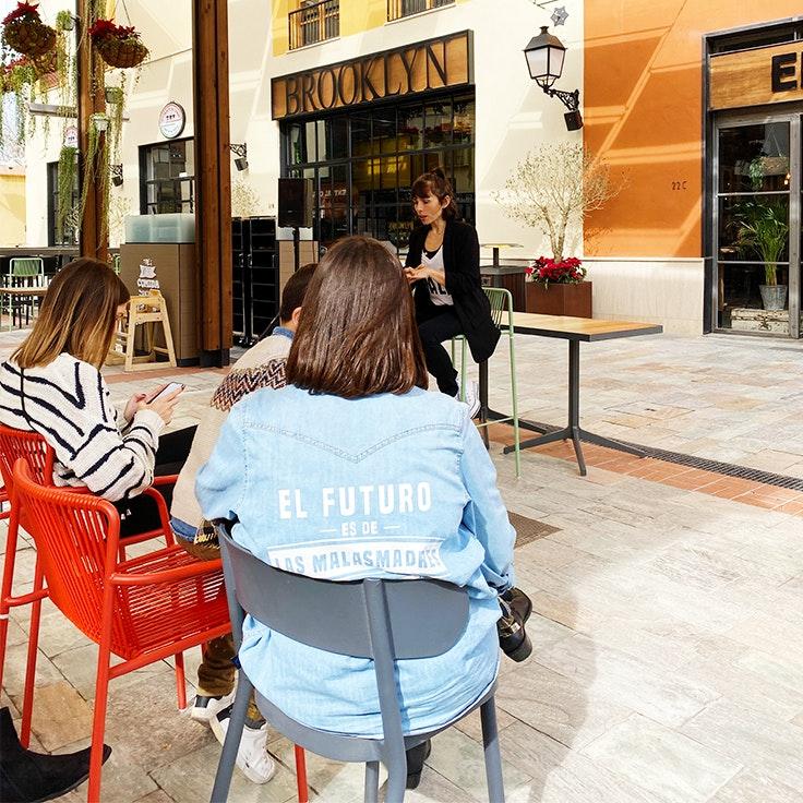 Raquel de MAMifit, masterclass Plaza Mayor Málaga