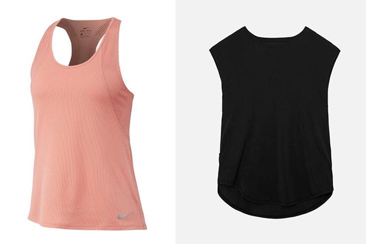 Camiseta deportiva en color rosa de Nike disponible en Base Camiseta deportiva negra de Oysho