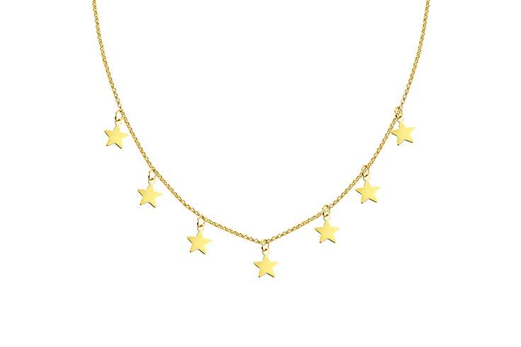 Colgante de estrellas en tono dorado de Singularu