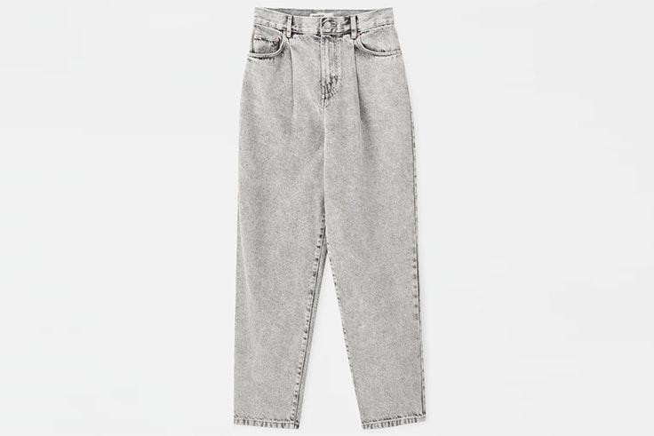 Pantalón vaquero gris claro de Pull and Bear