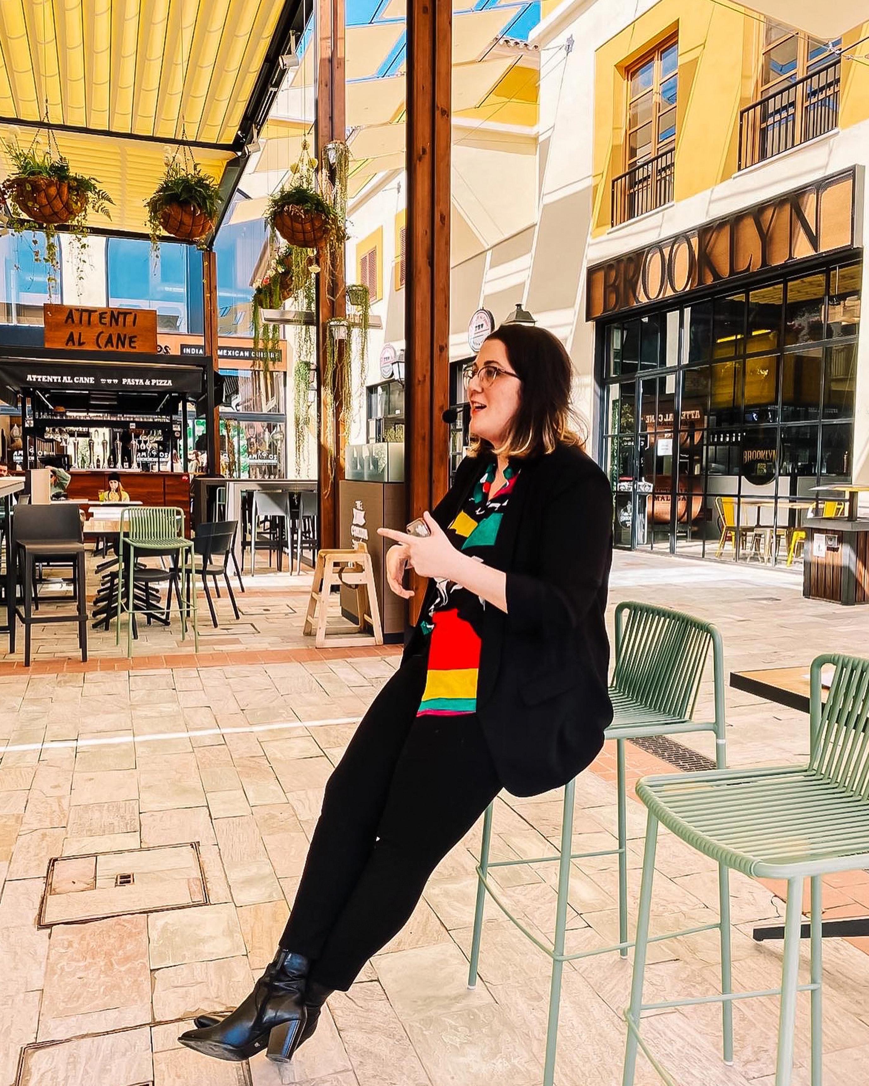 Pedrita Parker en el Patio Gourmet de Plaza Mayor Málaga