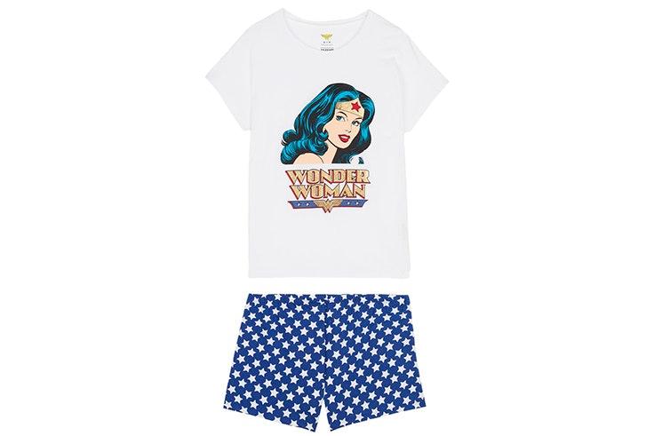 Pijama corto de Wonder Woman de Tezenis