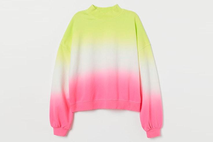 Sudadera de colores con cuello perkins de H&M