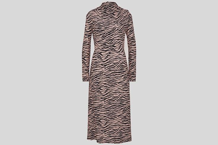 Vestido con estampado de cebra de C&A