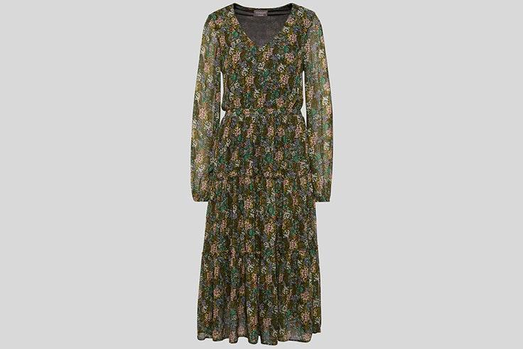 Vestido largo con estampado de flores de C&A