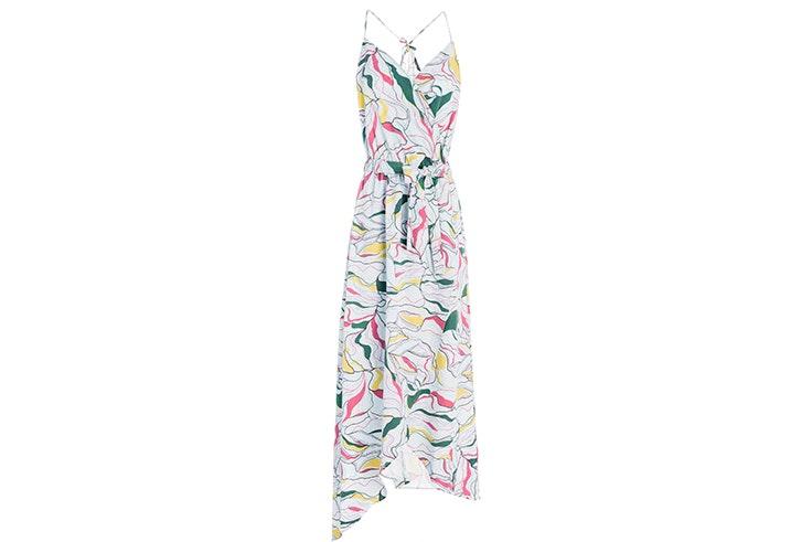 Vestido largo de flores de Salsa Jeans