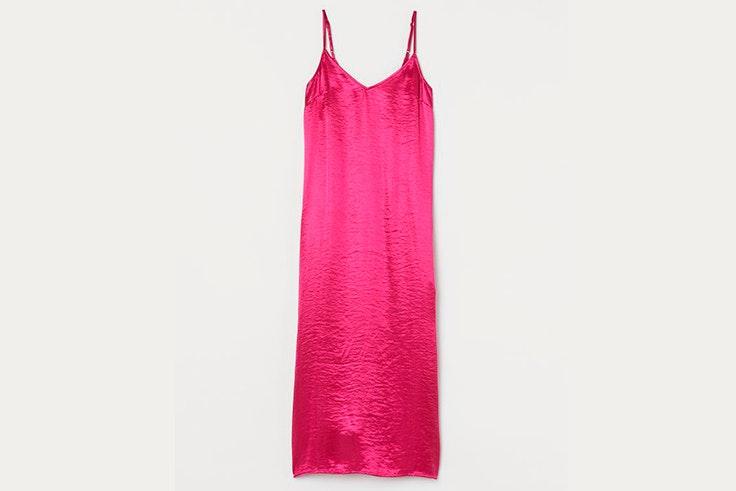 Vestido rosa fucsia de tirantes de H&M