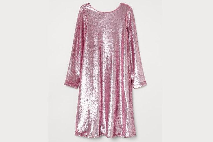Vestido rosa de lentejuelas de H&M
