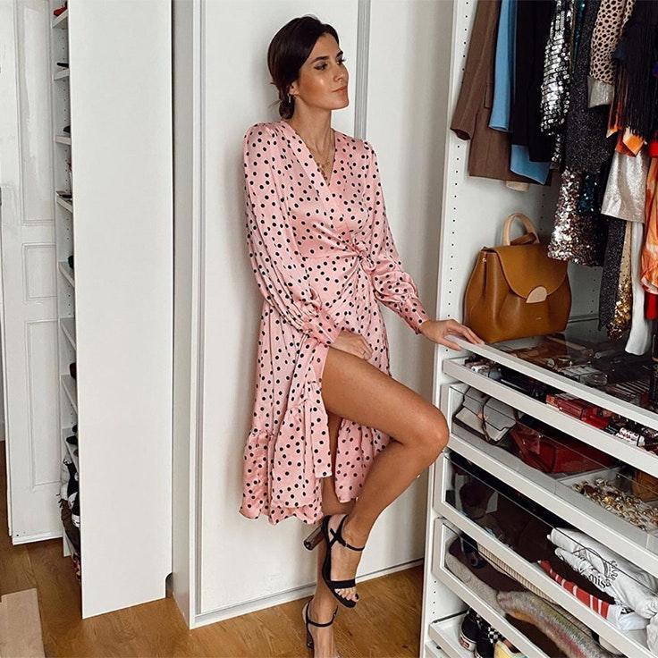 vestidos para estar por casa mery turiel vestido rosa de lunares