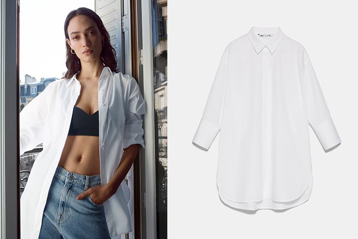 Novedades de zara desde casa Camisa oversize blanca