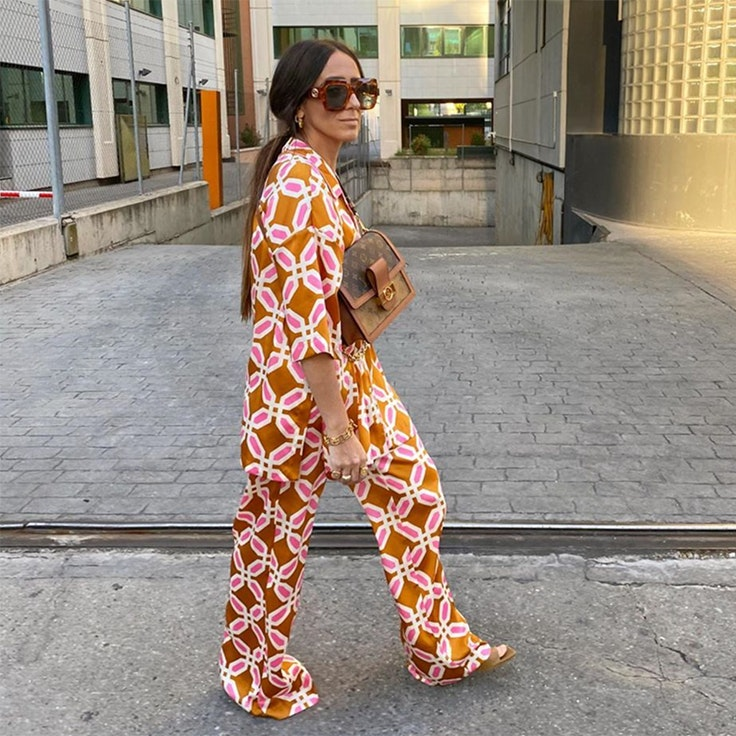 laura eguizabal pijama estampado de zara