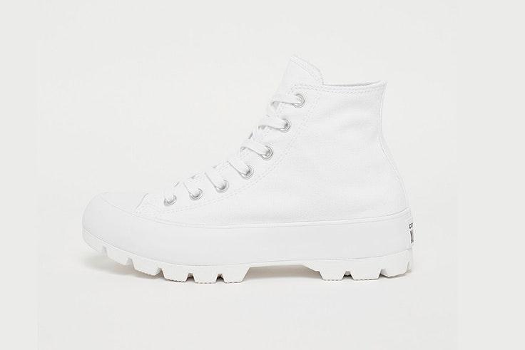 Zapatillas blancas de Converse con plataforma de Snipes