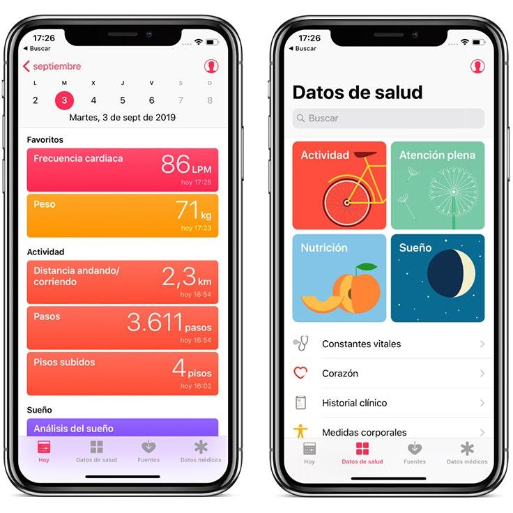 5 applicaciones para el movil app salud Salud y deporte