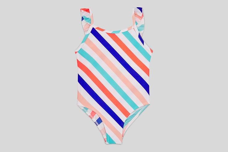 bañadores para niños Bañador de rayas de colores c&a