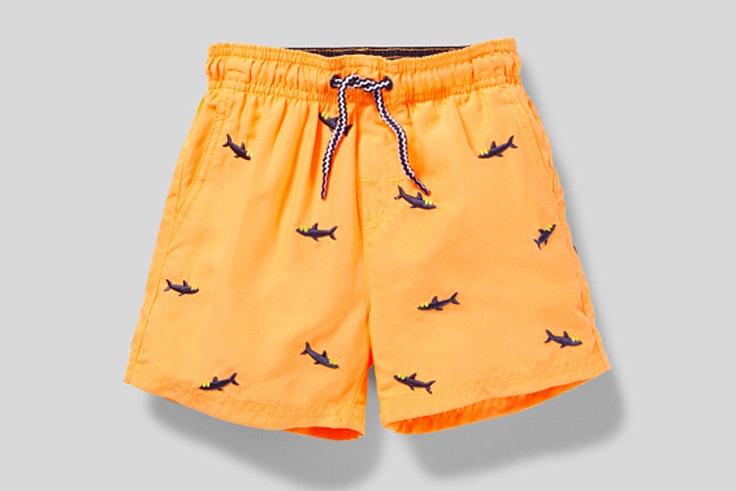 bañadores para niños Bañador naranja de tiburones c and a
