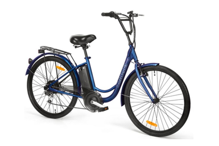 Bicicleta eléctrica en color azul de Smeco. Disponible en Phone House