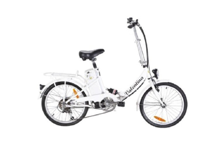 Bicicleta en color blanco de Smeco valentina . Disponible en Phone House
