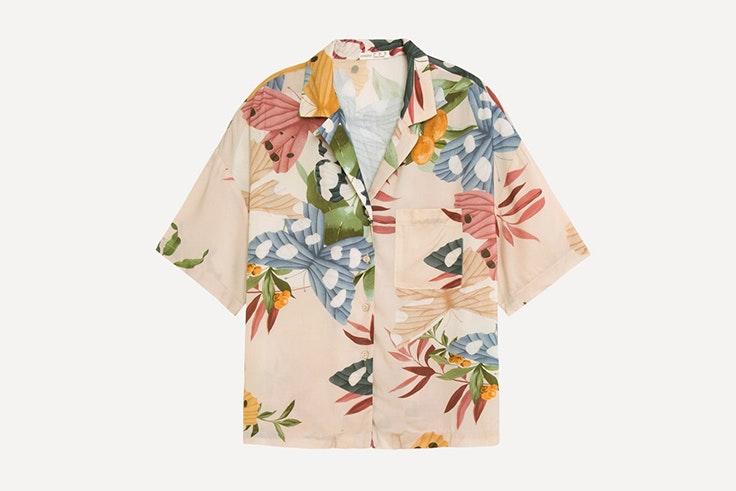 Camisa con estampado de mariposas de Oysho coleccion 2020