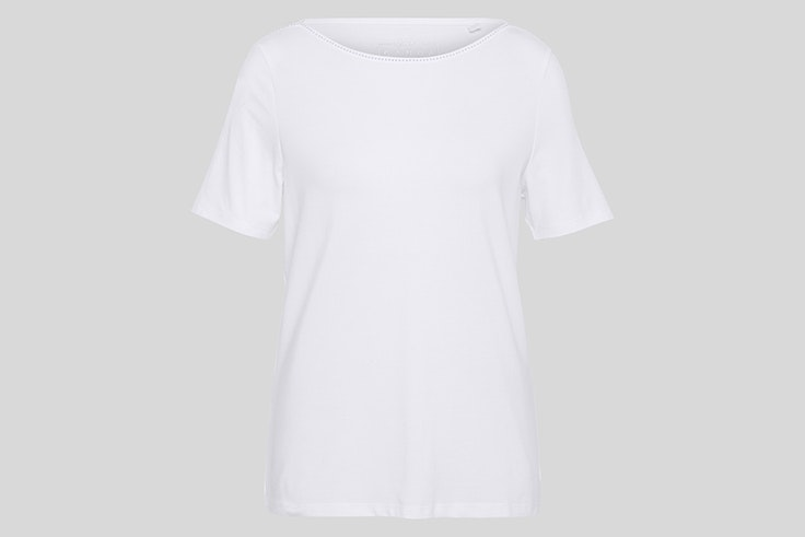 Camiseta blanca de manga corta de C&A
