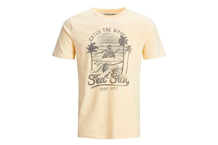 novedades de jack & jones verano 2020 Camiseta estampada en color amarillo