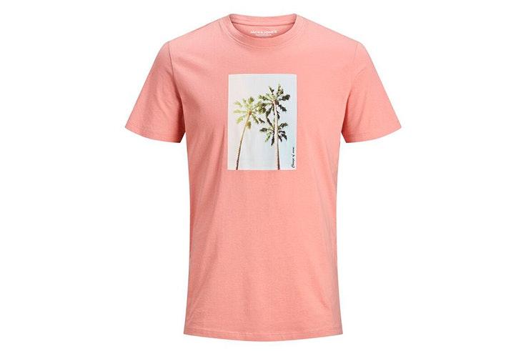 novedades de jack & jones verano 2020 Camiseta de manga corta con estampado de palmeras