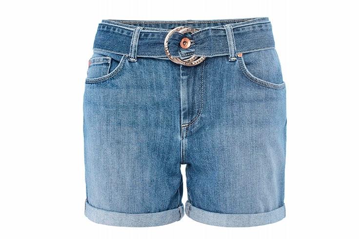 Pantalón corto vaquero con detalle de cinturón de Salsa Jeans